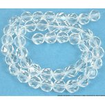 Round Faceted Fire Polished Chinese Crystal Beads Clear 8mm 1 Strand