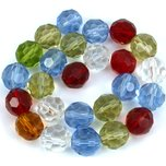Round Faceted Chinese Crystal Beads Assortment 1 Strand