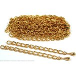 30 Teardrop Chain Extender Jewelry Necklace Gold Plated