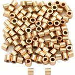 Crimp Beads Gold Filled 1mm 100Pcs