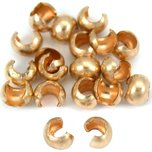 Crimp Bead Covers 14k Gold Filled 2.4mm 20Pcs