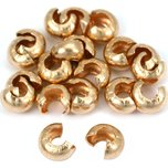Crimp Bead Covers 14k Gold Filled 4mm 20Pcs