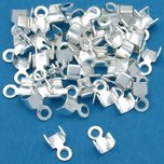 Cord Ends Silver Plated 3mm 50Pcs