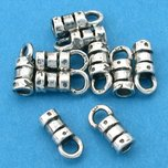 Crimp Cord End Sterling Silver 2mm 10Pcs