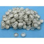 Bead Caps Silver Plated 6.5mm 150Pcs