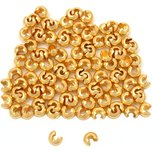 Crimp Bead Covers Gold Plated 3mm 100Pcs