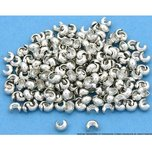 200 Silver Tone Round Crimp Bead Covers Jewelry 5mm