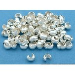 Crimp Bead Covers Sterling Silver Beading 3mm 100!