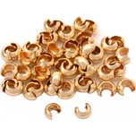 Crimp Bead Covers Gold Filled 3mm 50Pcs