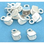 Crimp Cord Ends Sterling Silver 4.5mm 10Pcs