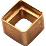 14K Yellow Gold Square Baguette Bezel Setting 0.07ct 2 x 2mm