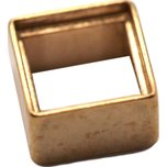 14K Yellow Gold Square Baguette Bezel Setting 0.4ct 4 x 4mm