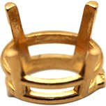 14K Yellow Gold 4 Prong Oval Basket Setting 0.25ct 5 x 3mm