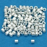 Crimp Beads Sterling Silver 1mm 100Pcs