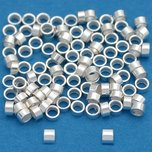 Crimp Beads Sterling Silver 2mm 100Pcs
