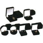 Jewelry Gift Box Assortment Black 12Pcs