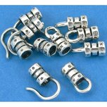 Crimp Cord Ends Hook & Eye Sterling Silver 3mm 10Pcs
