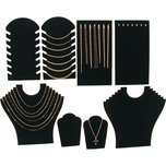 Black Velvet Necklace Jewelry Displays 8 Pc Set New
