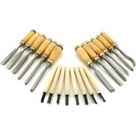 20Pc Professional Wood Carving Hand Chisel Tool Set Woodworking Craft