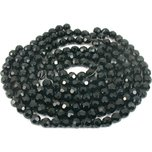 "Round Faceted Fire Polished Chinese Crystal Beads Black 10mm 5 12"" Strands"