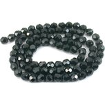 Round Faceted Fire Polished Chinese Crystal Beads Black 8mm 2 Strands