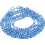 "Sapphire Blue Round Chinese Crystal Beads 6mm 5 14"" Str"