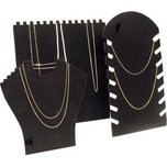 3 Black Necklace Chain Easel Display Stands Showcase