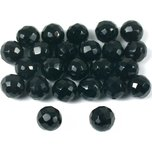 Agate Black Round Faceted Beads 6mm 24Pcs