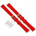 2 Red Leather Watchband fits Mickey Minnie Watch 12mm