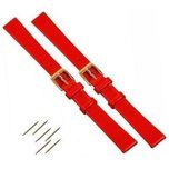 2 Red Leather Watchband fits Mickey Minnie Watch 14mm