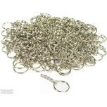 144 Key Chain Wallet Parts Nickel Plated Craft Findings 32mm