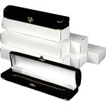 6 Bracelet Gift Boxes Black Flocked Jewelry Display Box