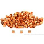 100 Crimp Tube Beads Jewelry Beading Copper Plated Part