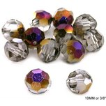 Round Faceted Crystal Beads Zairit 10mm 12Pcs