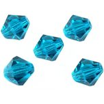 Bicone Crystal Beads Blue 8mm 5Pcs