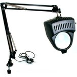 2x Clamp-On Magnifier Lamp Black
