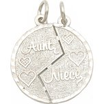 Aunt & Niece Charm Breakable 14K White Gold 19mm