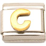 G Italian Charm Gold Plated Letter