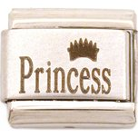 Stainless Steel Princess Italian Charm 9mm