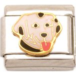 Dalmation Italian Charm Enamel Dog Bracelet Jewelry 9mm