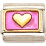 Heart Italian Charm Love Enamel Bracelet Jewelry 9mm
