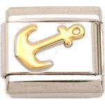 Stainless Steel Anchor Italian Charm 9mm