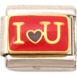 I Love You Italian Charm Enamel Bracelet Jewelry 9mm