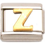 Z Italian Charm Gold Plated Letter