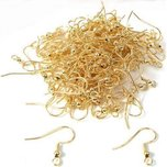 200 Gold Plated Shepherd Hook Earrings Jewelry Making 20mm  x 8.5mm