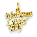 14K Gold Mommys Little Boy Charm
