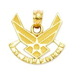 14K Gold US Air Force Charm
