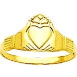 14K Gold Claddagh Children's Ring