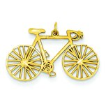 14K Gold Bicycle Charm