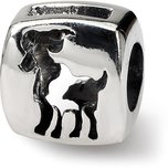 SimStars Reflections Aries Zodiac Antiqued Bead